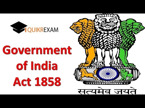 Government of india act 1858