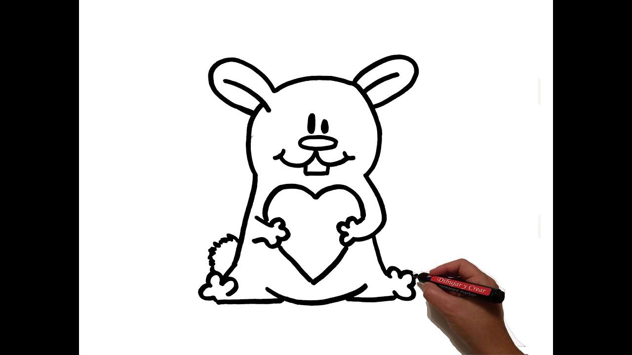 Como dibujar un conejito con corazon de san valentin how - Corazones de san valentin ...