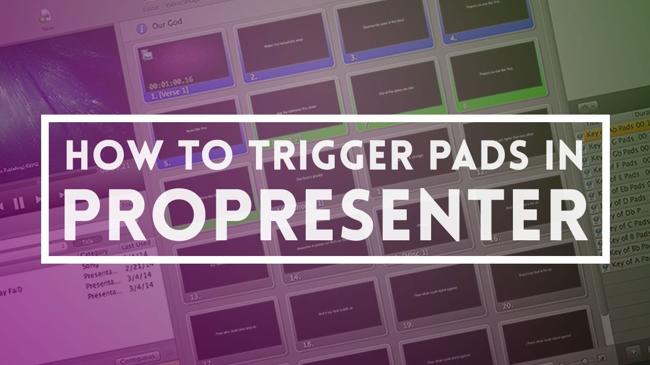 How to trigger pads or any audio in propresenter youtube baditri Images