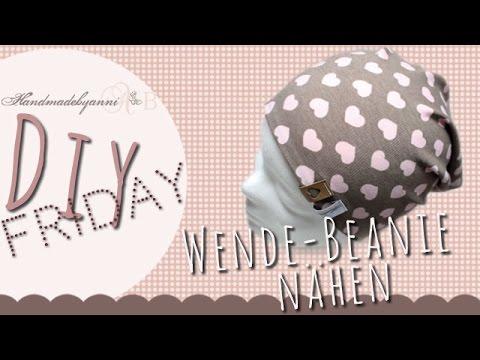 einfache Nähanleitung für eine Wende-Beanie (Mütze) // DIY Friday ...
