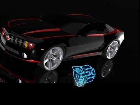 2014 Chevrolet Camaro Door Led Ghost Lights Autobot Symbol Youtube