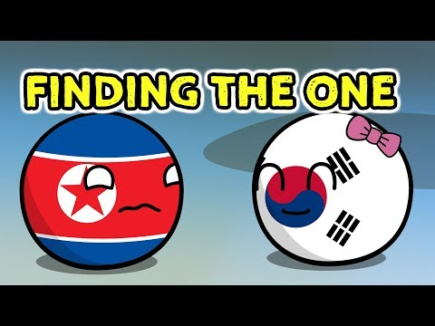 North Korea is alone - Countryballs