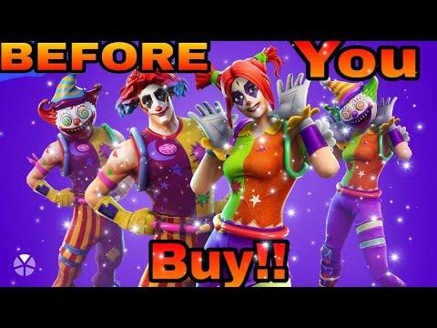 Before You Buy Nite Nite & Peekaboo!! CLOWN SKINS!! Battle Balloon Balloon Llama Backbling Display