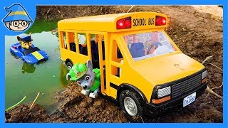 Video Paw Patrol school bus is in the water. Please rescue the school bus. download MP3, 3GP, MP4, WEBM, AVI, FLV Oktober 2018