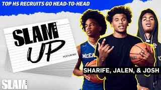 Jalen Green, Josh Christopher, Sharife Cooper are HILARIOUS HEAD-to-HEAD 😂 | SLAM Up Video