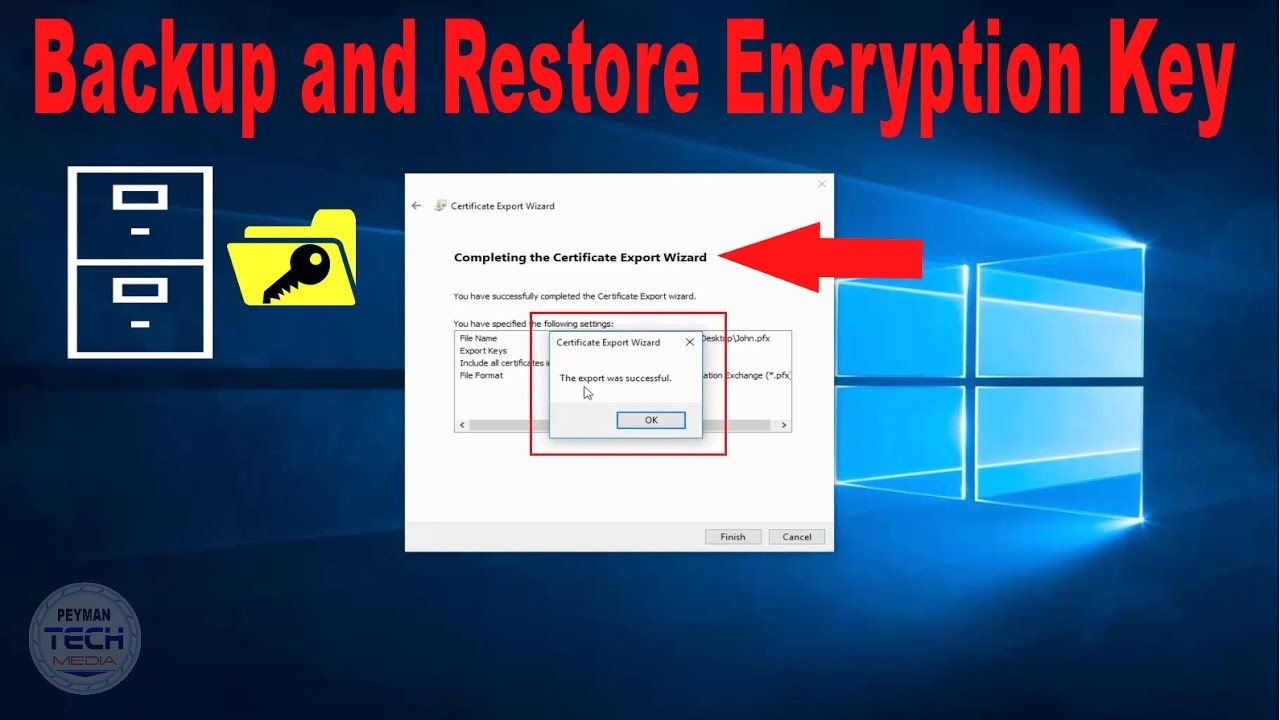 How to backup and restore your file encryption key youtube how to backup and restore your file encryption key 1betcityfo Image collections