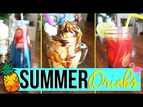 SUMMER DRINK IDEAS 2017 | EASY + KID FRIENDLY SUMMER DRINK RECIPES! | Page Danielle