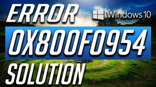 How to fix .Net error code 0x800f0954