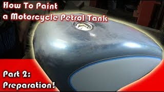 How to paint Harley Davidson Petrol Tank, Part2 - Preparation and Paint