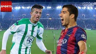 F.C BARCELONA 5-0 CORDOBA 2014 [MESSI DOUBLE, SUAREZ, PIQUE AND PEDRO SCORE]