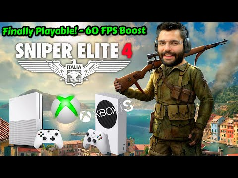 Sniper Elite 4 New FPS Boost Xbox Series S VS Xbox One S Performance Graphics Analysis Comparison