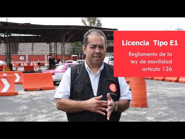 Pasos para Trámite para licencia tipo E1