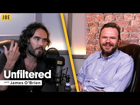 Russell Brand talks to James O'Brien in episode one of JOE.co.uk's video podcast Unfiltered