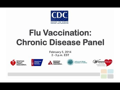 CDC Flu Webinar: Protecting People with Chronic Conditions from Influenza/Flu