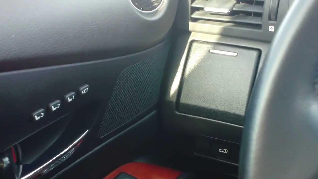 Lexus Is 350 >> HOW TO SET YOUR MEMORY SEAT ON A LEXUS - YouTube