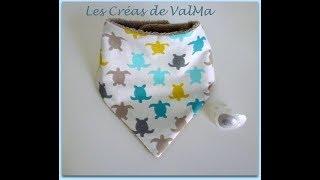 Bavoir bandana 3-6 mois pour bébé  - Tuto couture ValMa