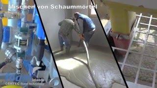 GERTEC: Schaummoertel, Unterbodenausgleich, Bodenisolierung, Schaumbetonmischanlage SBMA-14