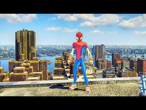 SPIDER MAN PS4 Spider-Clan Suit Free Roam Gameplay (SPIDERMAN PS4 Turf Wars DLC)