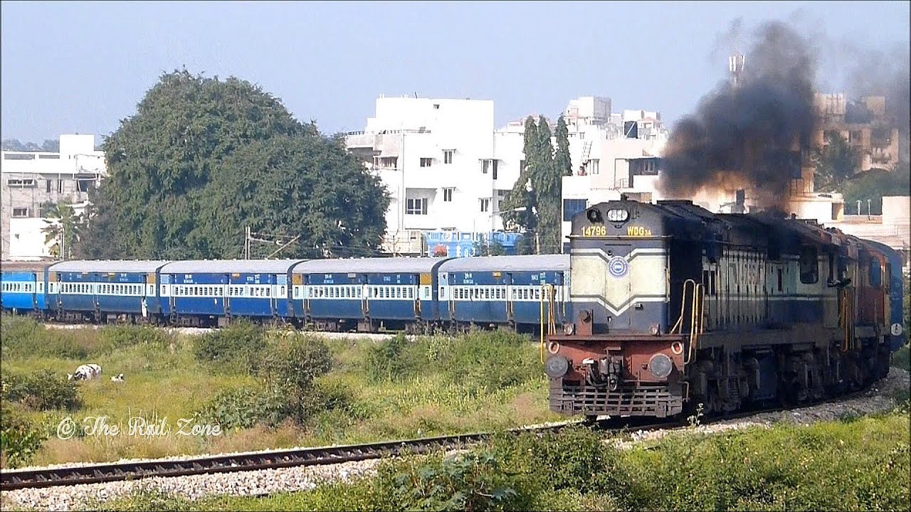 HORSE SHOE CURVE BANGALORE : INDIAN RAILWAYS TRAIN