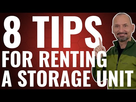 8 Tips For Renting Storage Units