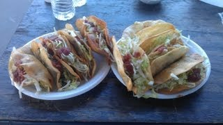 DELICIOUS DEEP FRIED TACOS EATING CHALLENGE!!