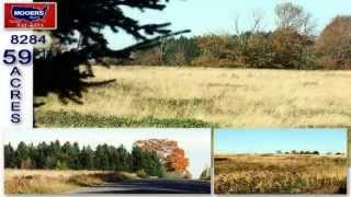 USA Maine Land For Sale! Farm, Wooded Property Acreage, 59 Acres! MOOERS #8284
