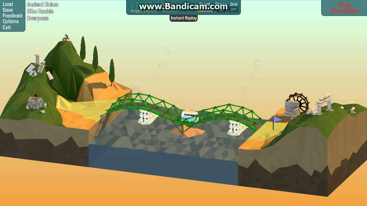 poly bridge 20m double overpass ancient ruins solution how to beat youtube. Black Bedroom Furniture Sets. Home Design Ideas