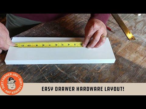 Easy Drawer Hardware Layout!