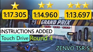 Asphalt 9 | Touch Drive | Zenvo TSR-S Grand Prix Round 4 | 1⭐ ,2 ⭐ and 3 ⭐ | Instructions added