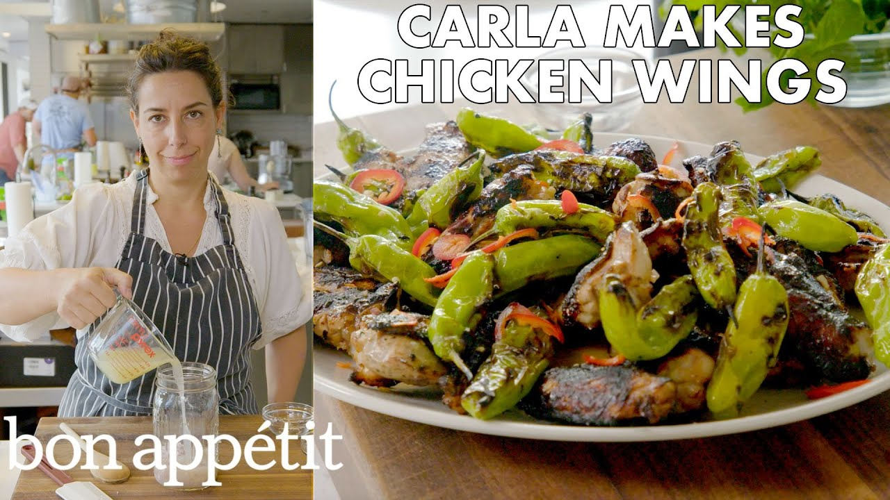 Carla Makes Grilled Chicken Wings with Shishito Peppers | From the Test Kitchen | Bon Appétit