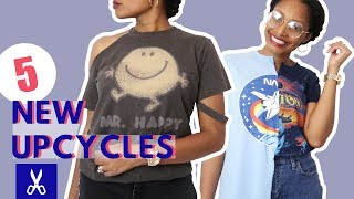 5 New T-shirt Upcycles: How To Cut for the Impatient Beginner