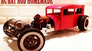 RC CAR - RAT ROD RWD HOMEMADE 1/10 [PART 2/5] BODY FORD SEDAN MODEL A 1929