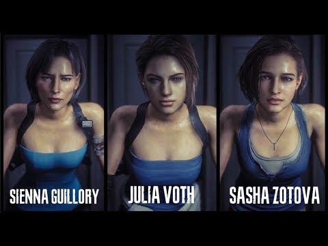Face Model Comparison Of Jill Valentine Sienna Guillory Julia