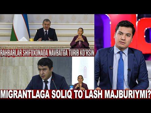 Markaziy Studiya 10.11.2020 - Migrantalaga Soliq To`lash Majburiymi? | Rahbarlar Shifoxonada...