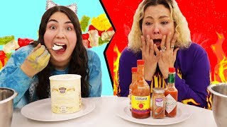 SPICY VS SWEET FOOD CHALLENGE!
