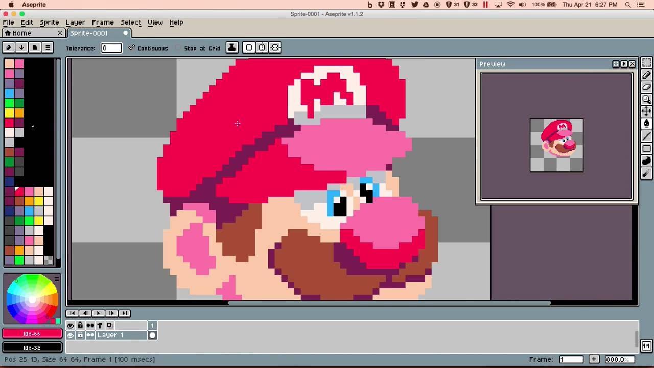 Mario Pixel Art Sketch Youtube
