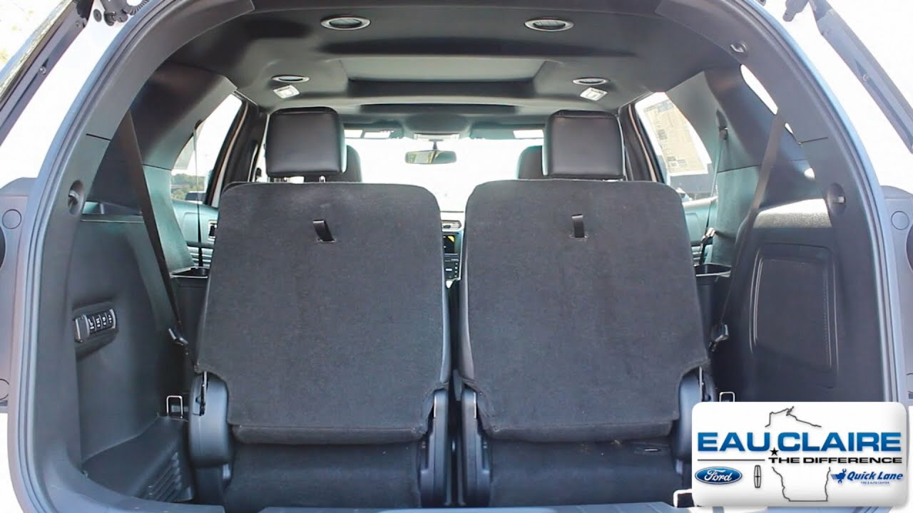 How To Use Fold Third Row Seats On A 2017 Ford Explorer Limited You