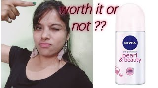 Nivea deodorant Nivea Pearl beauty rollon review under 100 rupees roll on worth it or not