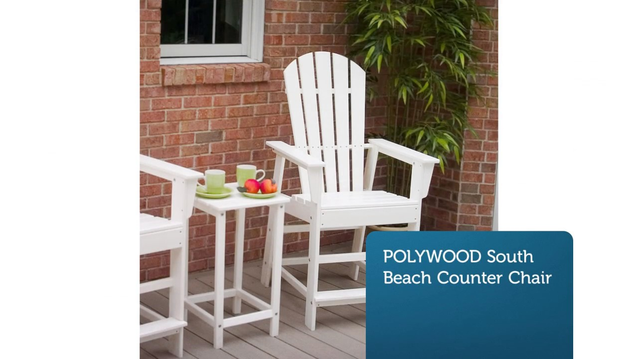 Premium Poly Patios : Polywood Counter Chairs - YouTube