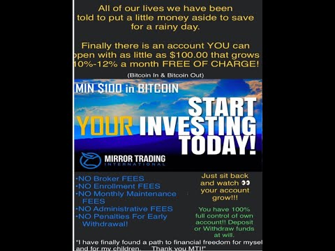 CRE8WEALTH NETWORK &NEW DESTINY WEALTH BUILDERS GROW YOUR BITCOIN WITH MTI MIRROR TRADING INT 1/7/20