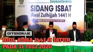 pemerintah tetapkan idul adha jatuh pada 31 juli 2020