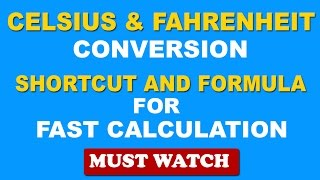 Fast Temperature Conversion: Celsius to Fahrenheit and fahrenheit to Celcius Conversion - in Hindi
