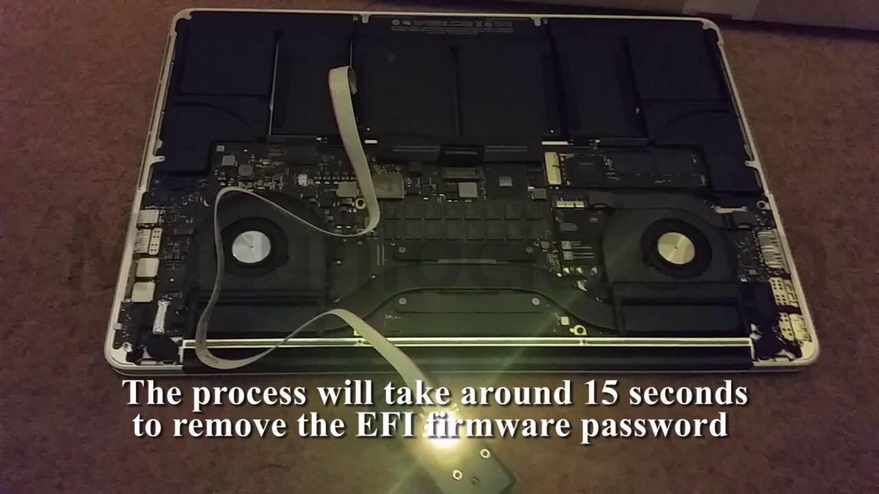 Macbook Pro 2013 EFI iCloud firmware lock remover unlocker in seconds