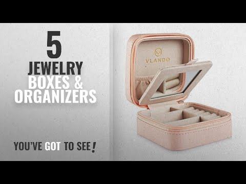 Top 10 Jewelry Boxes & Organizers [2018]: Vlando Small Faux Leather Travel Jewellery Box Organizer
