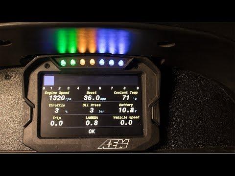 AEM CD5 Dash Programming With Ecumaster ECU (RB20 240sx)