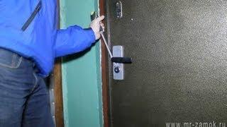 Взлом замка и установка нового на металлическую дверь за 5 минут