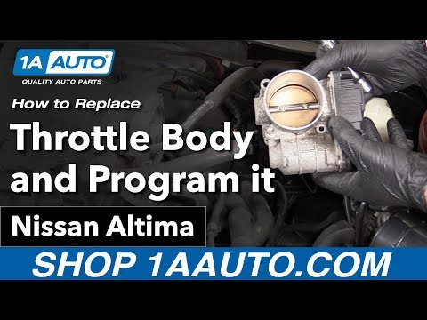 How to Replace Install Throttle Body 02-06 Nissan Altima
