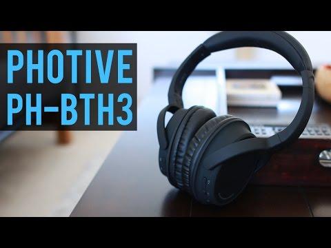 5c04276e1e2 Photive PH-BTH3 Bluetooth Headphones Review - YouTube