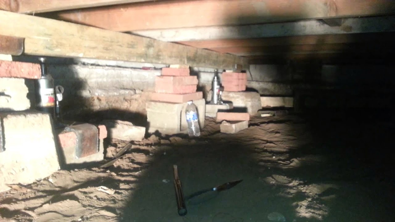 Home Foundation Repair Sagging Floor Part 1 Youtube