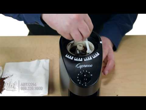 How To: Clean Jura-Capresso Infinity Conical Burr Black Coffee Grinder 560BK